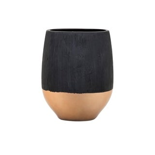 Gorgeous Rhone Small Vase - Black - Benzara