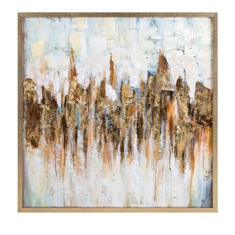 Refined Katsu Framed Oil Painting - Benzara - multi
