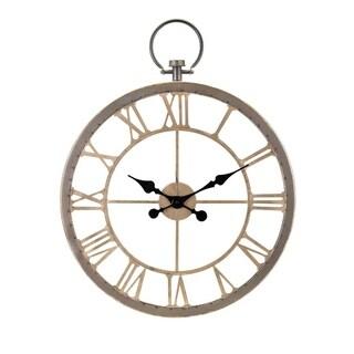 Vintage Payton Wall Clock - Gold - Benzara