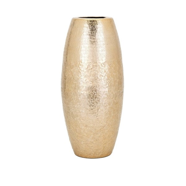 Shop Skinner Vase Large Gold Benzara Free Shipping Today