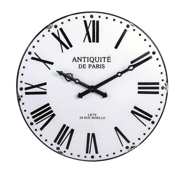 Lexington Wall Clock - White - Benzara