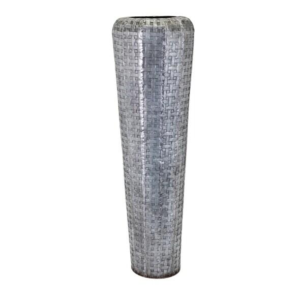 Shop Jones Tall Oversized Floor Vase Gray Benzara Free