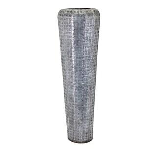 Jones Tall Oversized Floor Vase - Gray - Benzara