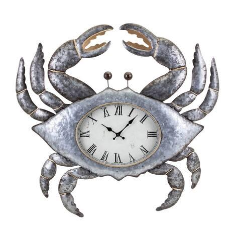 Crabby the Clock, Silver- Benzara