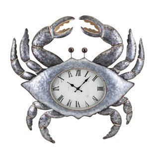 Crabby the Clock, Silver- Benzara