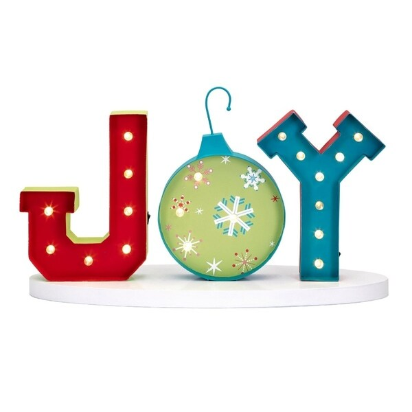 Shop Whimsy Christmas Lighted Joy Sign Multicolor