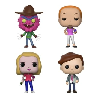 Funko POP! Animation Rich & Morty Collectors Set Seires 3; Scary Terry, Summer, Beth w/ wine glass, Lawyer Morty