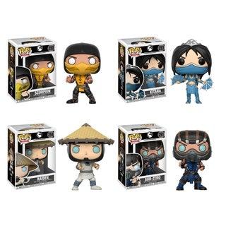 Funko POP! Games Mortal Kombat Collectors Set; Scorpion, Subzero (Possible Limited Chase Edition), Kitana, Raiden