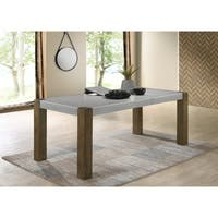 Costabella Solid Wood Dining Table with Butterfly leaf - Brown