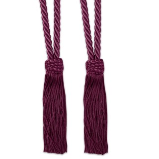 V-Cord Braided Tassel Tieback Set of 2 (Assorted Colors)