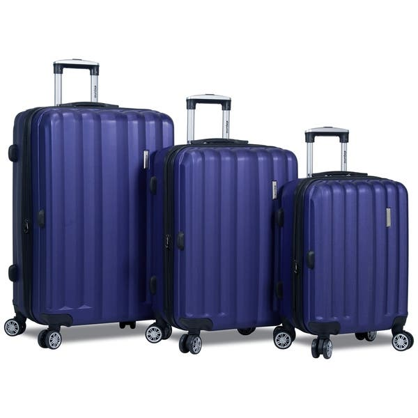 d1d4a6b437ac Shop Dejuno Camden 3-Piece Spinner Combination-Lock Luggage Set ...