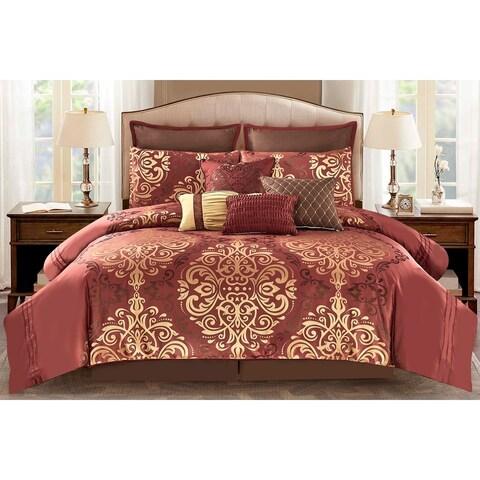 Timur Comforter Set in Red