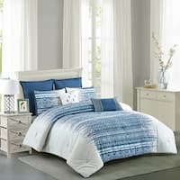 Dorian Cotton Printed Comforter Set in Blue