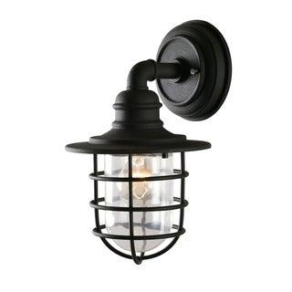 """Design Craft Savoie 11.38"""" Sandy Black 1-Light Lantern"""