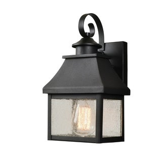 "Design Craft Mandela 11.63"" Sandy Black 1-Light Lantern"