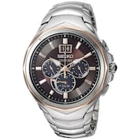 Seiko Men's Coutura Stainless Steel Solar Chronograph Watch with 6 Month Power Reserve - Silver