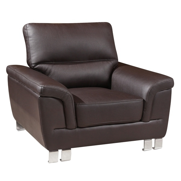 Shop global united industries watson leather gel match - Upholstered living room chairs sale ...
