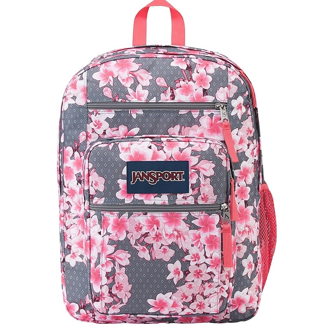 JANSPORT Unisex Big Student Diamond Plumeria Pink Backpac...