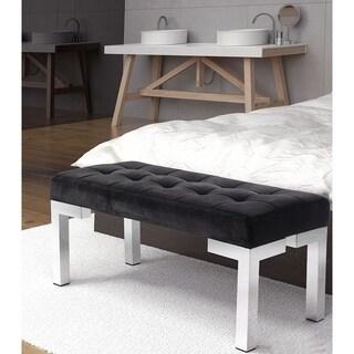 Pyper Marketing Lebron Black Velvet/Stainless Steel Bench