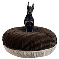 Bessie and Barnie Signature Natural Beauty/ Godiva Brown Luxury Extra Plush Faux Fur Bagel Pet / Dog Bed