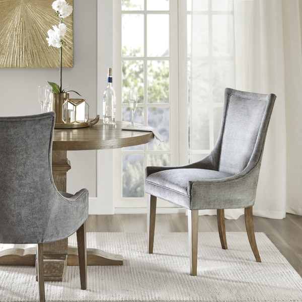 Madison Park Signature Ultra Dark Grey Dining Side Chair (Set of 2) & Shop Madison Park Signature Ultra Dark Grey Dining Side Chair (Set ...