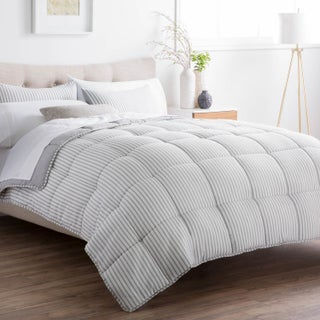 BROOKSIDE Striped Reversible Chambray Down Alternative Comforter Set (More options available)