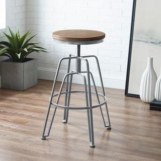 Aimes Wood and Metal Adjustable Stool