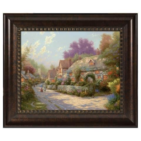Thomas Kinkade Cobblestone Village 16 x 20 Brushstroke Vignette