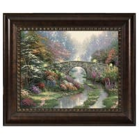 88705508264 Thomas Kinkade Stillwater Bridge 16 x 20 Brushstroke Vignette