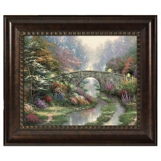 Thomas Kinkade Stillwater Bridge 16 x 20 Brushstroke Vignette