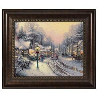 Thomas Kinkade Village Christmas 16 x 20 Brushstroke Vignette
