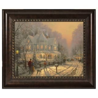 Thomas Kinkade A Holiday Gathering 16 x 20 Brushstroke Vignette|https://ak1.ostkcdn.com/images/products/18271780/P24406318.jpg?impolicy=medium
