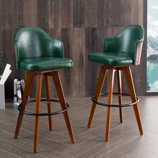 Marvelous Shop Corvus Metz Mid Century Bonded Leather Swivel Bar Stool Squirreltailoven Fun Painted Chair Ideas Images Squirreltailovenorg