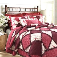 Annabel Heirloom Patchwork 3-Piece Cotton Quilt Set