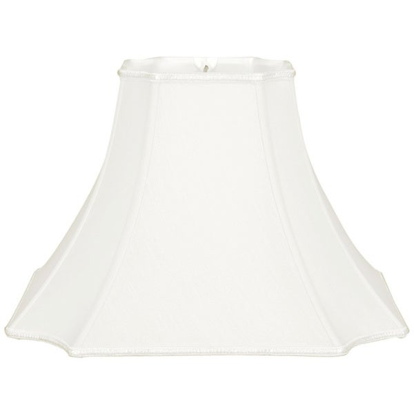 Royal Designs Square Bell with Inverted Corners Designer Lamp Shade, White, 7 x 16 x 11.5
