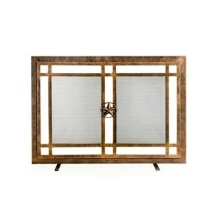 Ornamental Designs Belisario Brown Steel Fireplace Screen