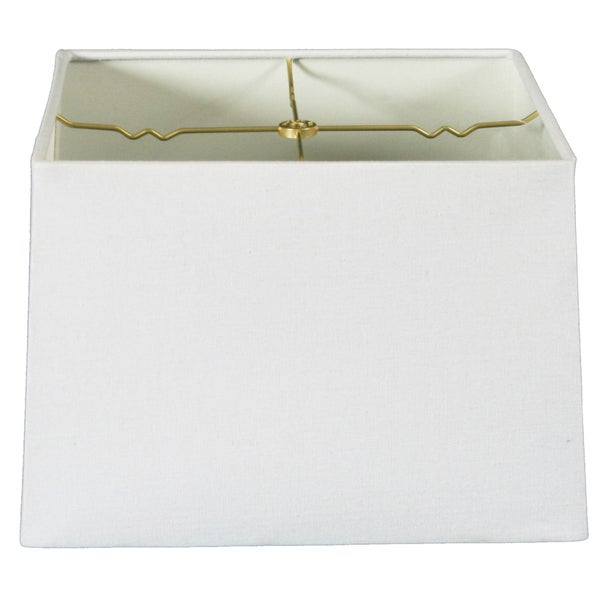 Royal Designs Square Hard Back Lamp Shade, Linen White, (13x13) x (14x14) x 9.5 (HB-614-14LNWH)