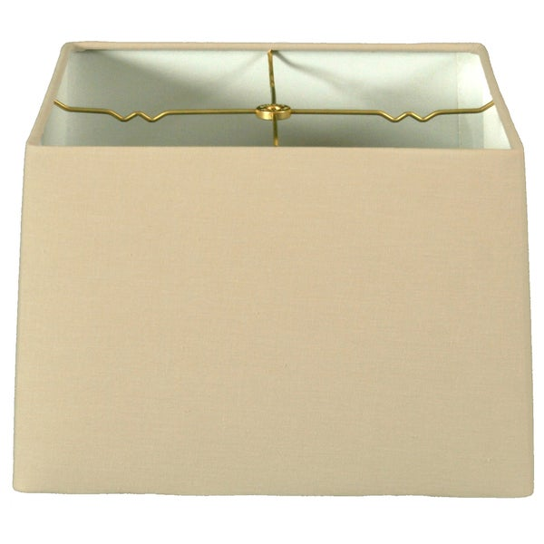 Royal Designs Square Hard Back Lamp Shade, Linen Beige, (13x13) x (14x14) x 9.5