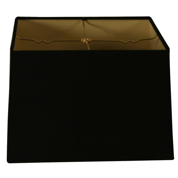 Royal Designs Square Hard Back Lamp Shade, Black, (13x13) x (14x14) x 9.5