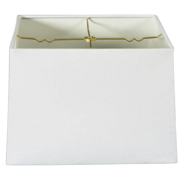 Royal Designs Square Hard Back Lamp Shade, Linen White, (11x11) x (12x12) x 9