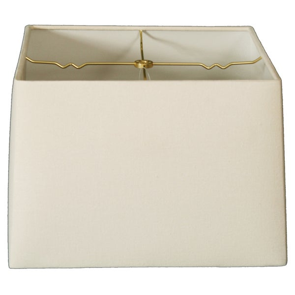 Royal Designs Square Hard Back Lamp Shade, Linen Eggshell, (11x11) x (12x12) x 9