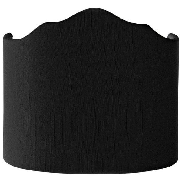 Royal Designs Half Crown Hardback Lamp Shade, Black, 8 x 8 x 7