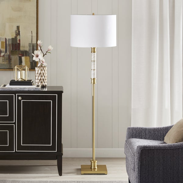 Park Madison Lighting Floor Lamp: Shop Madison Park Signature Adeline White/ Gold 62.5-inch