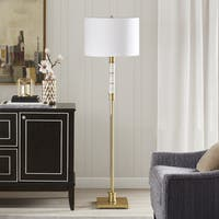 Madison Park Signature Adeline White/ Gold 62.5-inch Floor Lamp with Cylinder Shade