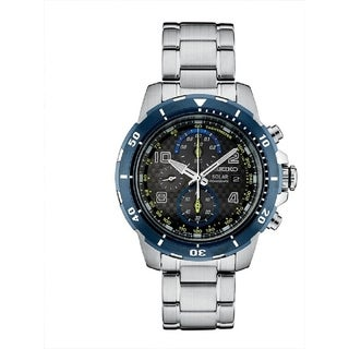 Seiko Men's SSC637 Special Edition Jimmie Johnson Solar Chronograph Watch - Silver