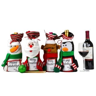 4 Pcs Christmas Candy Bags or Christmas Gift Bags Set with Photo Frame