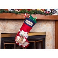 "Ornate 3D Santa Claus Christmas Stockings - 22"" Large Holiday Stockings"