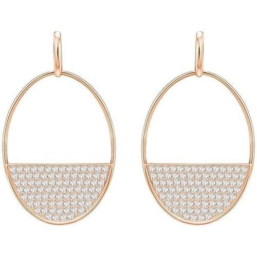 Swarovski Ginger Pierced Earrings - White - Rose gold Plating - 5353224 4e495dfedd