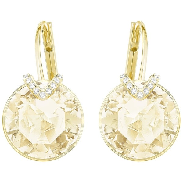 e92009239 Shop Swarovski Bella V Pierced Earrings - Large - Golden - Gold Plating -  5353214 - Free Shipping Today - Overstock - 18272275