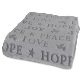Berkshire Blanket Peace Love Dove VelvetLoft Throw
